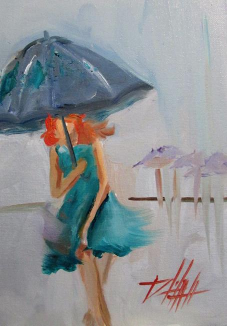 Art: Rain by Artist Delilah Smith