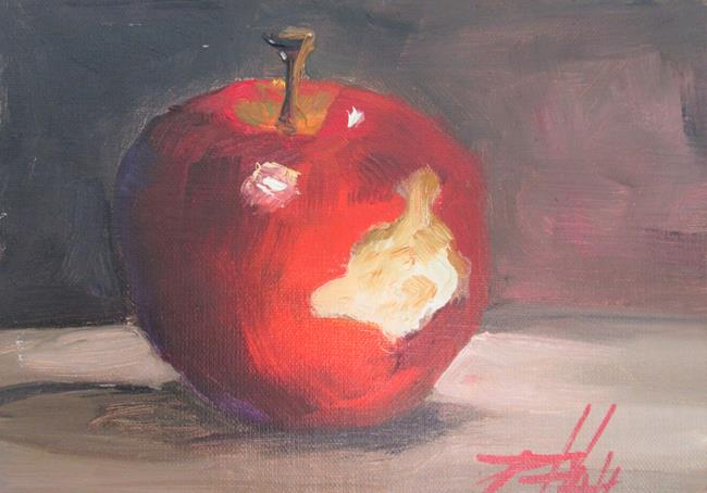 Art: Apple No, 3 100 apples series by Artist Delilah Smith
