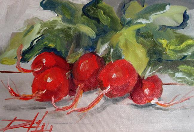 Art: Bunch of Radish by Artist Delilah Smith