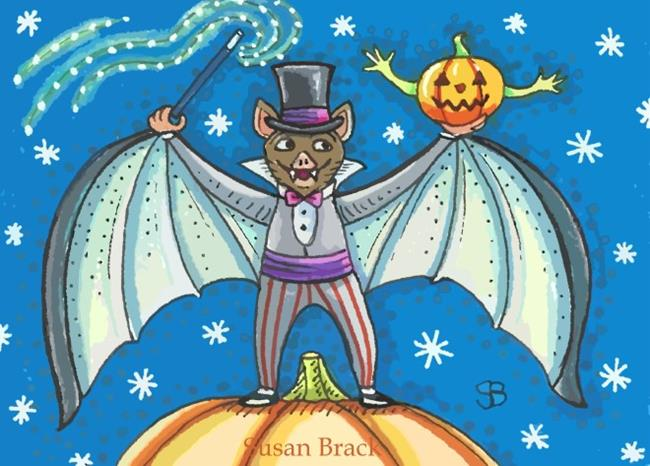 Art: BAT MAGIC by Artist Susan Brack