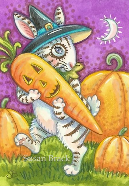 Art: CARROT FOR A RABBIT'S BREW by Artist Susan Brack