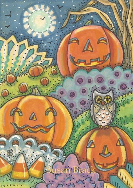 Art: HALLOWEEN LAND by Artist Susan Brack