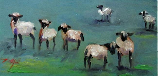 Art: Pasture Full Of Sheep by Artist Delilah Smith