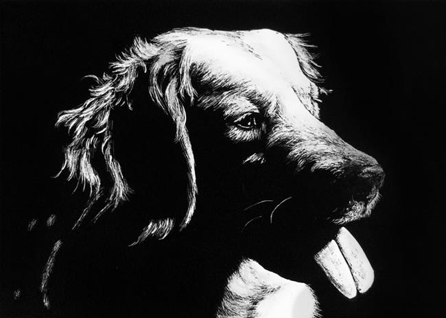 Art: Retriever  (SOLD) by Artist Monique Morin Matson
