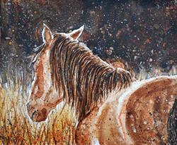 Art: Autumn Mustang by Artist Melinda Dalke