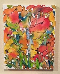 Art: Abstract Floral - sold by Artist Ulrike 'Ricky' Martin