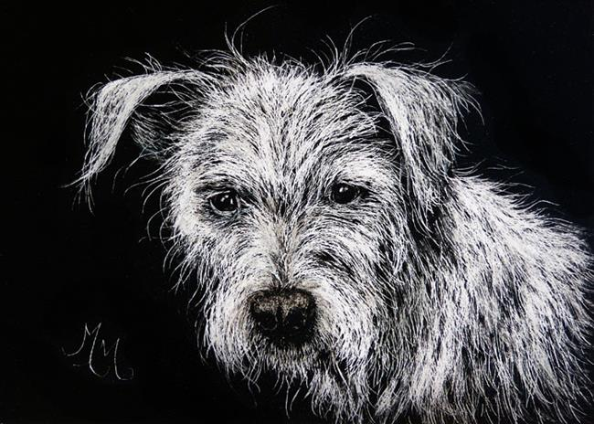 Art: Mutt  (SOLD) by Artist Monique Morin Matson