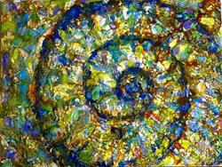 Art: Abstract Seashell - sold by Artist Ulrike 'Ricky' Martin