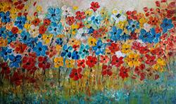 Art: Field of Daisies by Artist LUIZA VIZOLI