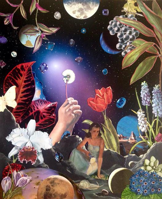 Art: Gardening At Night by Artist Shawn Marie Hardy