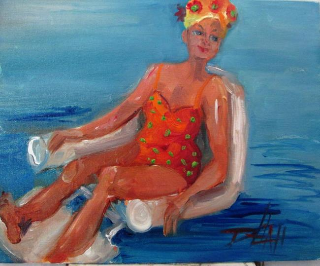 Art: At the Pool by Artist Delilah Smith