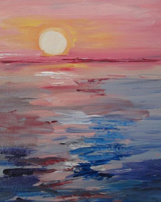 Art: Ocean Sunset by Artist Delilah Smith