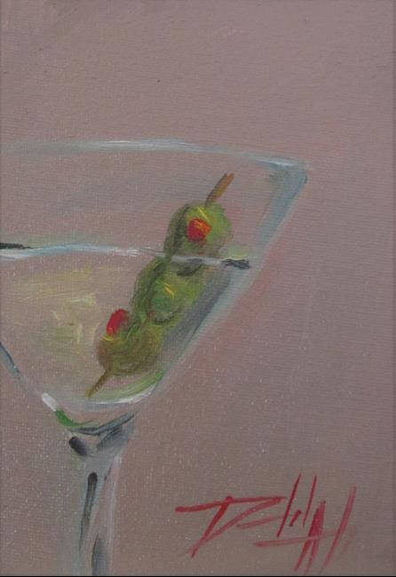 Art: Three Olive Martini by Artist Delilah Smith