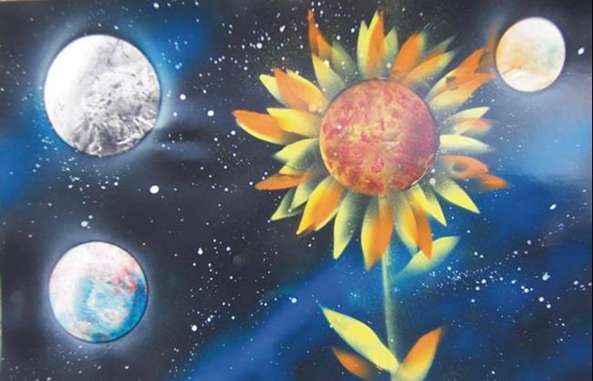Art: Sunflower by Leonard G. Collins by Artist Leonard G. Collins