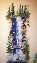 Art: Multnomah Falls by Leonard G. Collins by Artist Leonard G. Collins