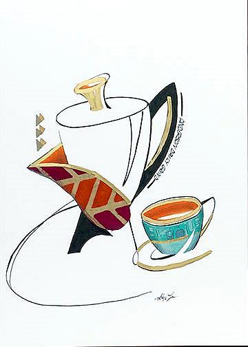 Art: Coffee Clutch by Artist Alma Lee