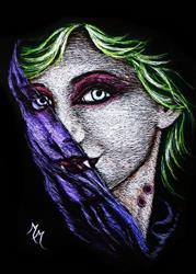 Art: Vampiress by Artist Monique Morin Matson