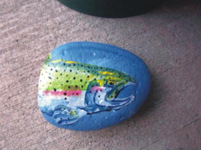 Art: Steelhead Rock Art by Leonard G. Collins by Artist Leonard G. Collins
