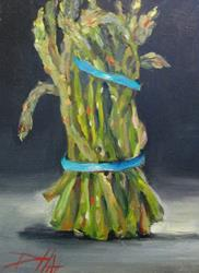 Art: Bunch of Asparagus by Artist Delilah Smith