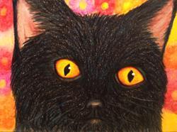 Art: Little Black Cat by Artist Pamela Godwin Manning
