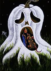 Art: Ghost Lighter by Artist Monique Morin Matson