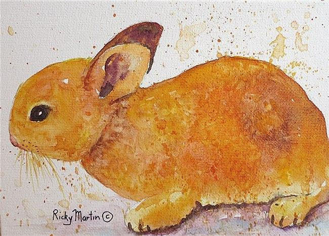 Art: Baby Bunny - sold by Artist Ulrike 'Ricky' Martin