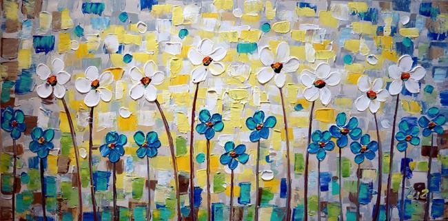 Art: Daisy Forget Me Not by Artist LUIZA VIZOLI