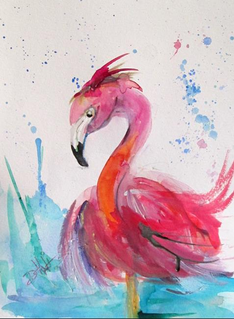 Art: Pink Flamingo No, 2 by Artist Delilah Smith