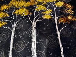 Art: Birches on Granite Peak by Artist Vicky Helms