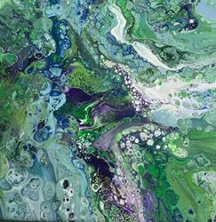 Art: Fluid Acrylic Abstract by Artist Ulrike 'Ricky' Martin