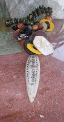 Art: Ethiopian Medicine Stick  Necklace by Artist ElaineSonneWearableArt