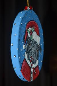 Detail Image for art Candy Cane Santa Pug 2017
