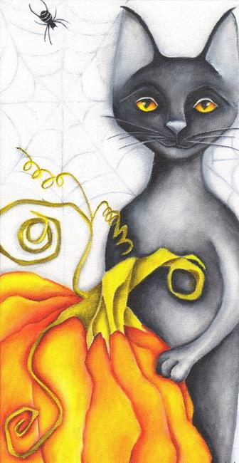 Art: Punkin' And The Spiders by Artist Deb Harvey