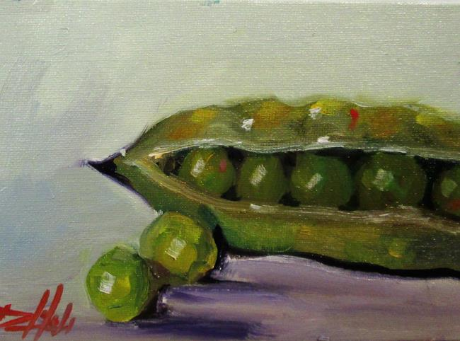 Art: Pea Pod by Artist Delilah Smith