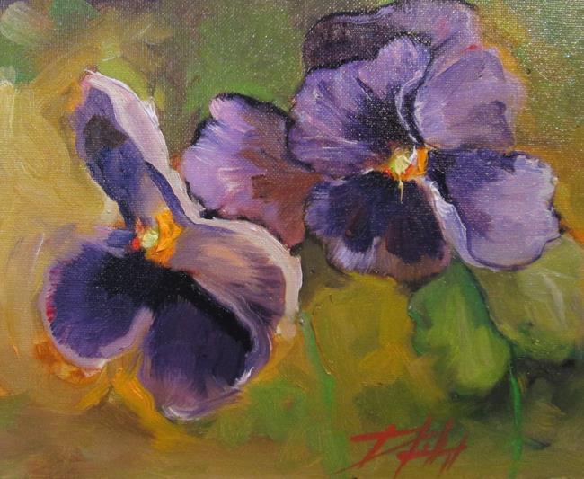 Art: Violets-sold by Artist Delilah Smith