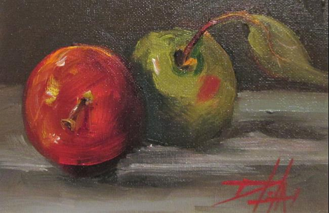 Art: Apples No. 6,100 apples series by Artist Delilah Smith