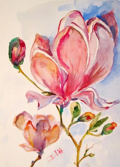 Art: Magnolias by Artist Delilah Smith