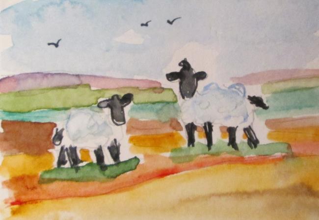 Art: Black Face Sheep by Artist Delilah Smith