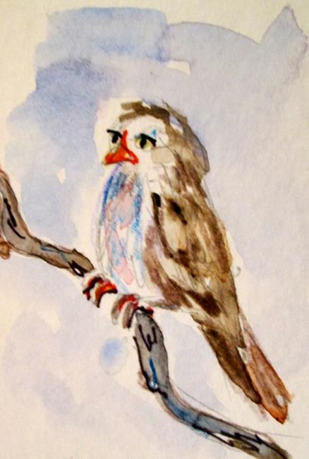 Art: Aceo Sparrow by Artist Delilah Smith