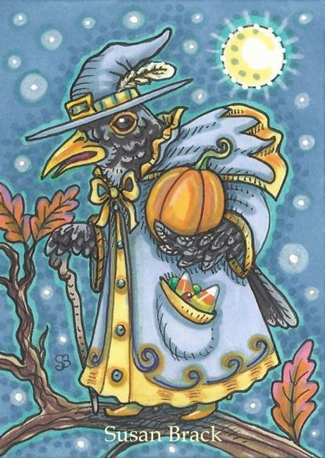 Art: BLACK BIRD WIZARD by Artist Susan Brack