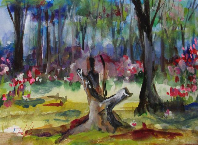 Art: Spring Woodland by Artist Delilah Smith