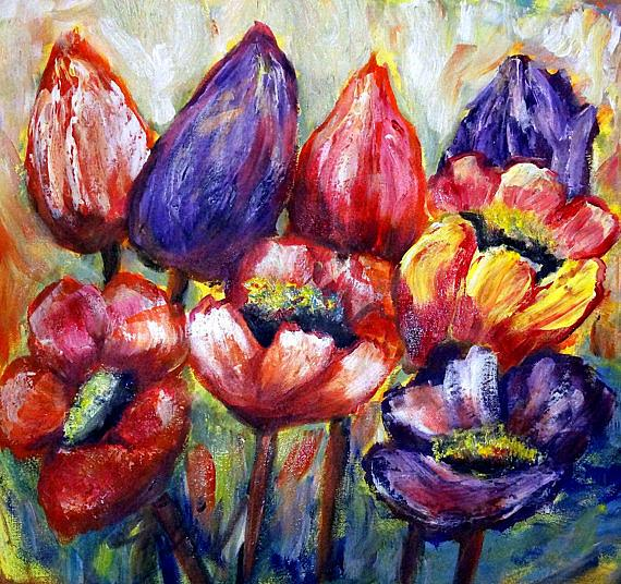 Art: TULIPS FLOWERS by Artist LUIZA VIZOLI
