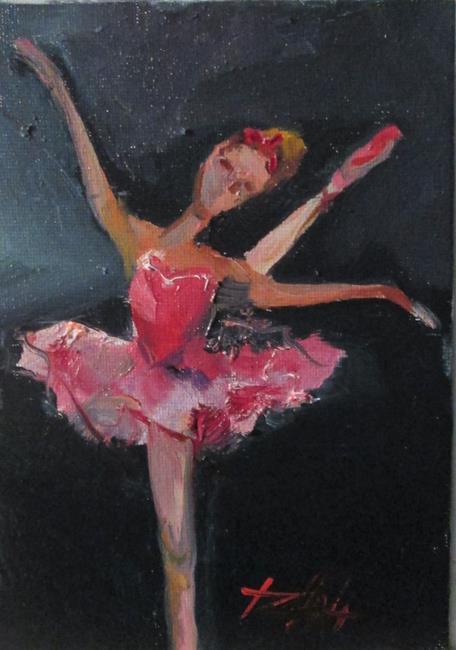 Art: Pink Ballerina by Artist Delilah Smith