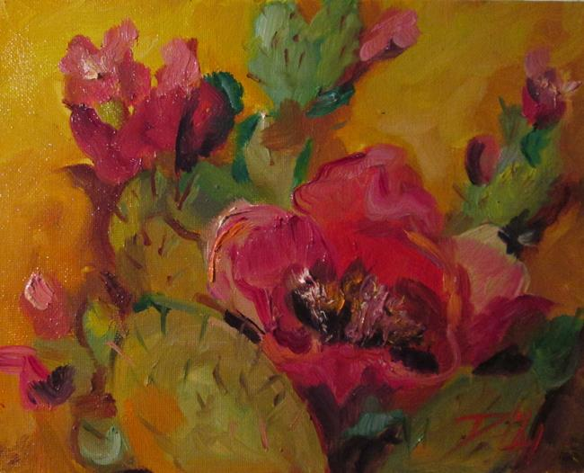 Art: Cactus Flower-sold by Artist Delilah Smith