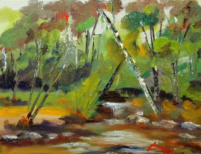 Art: Stream in the Forrest by Artist Delilah Smith
