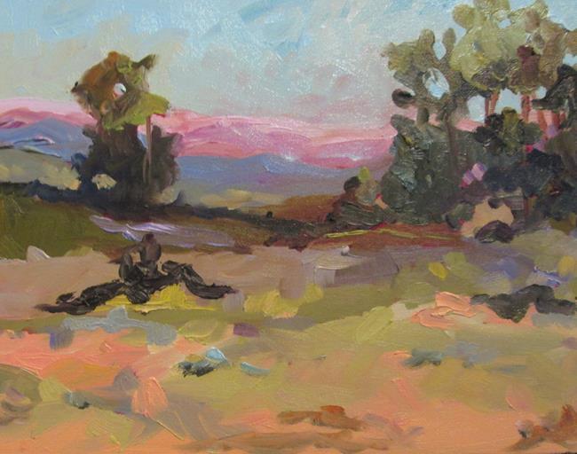 Art: Warm Landscape by Artist Delilah Smith