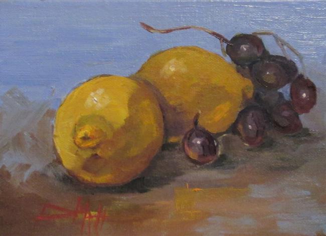 Art: Lemons and Grapes by Artist Delilah Smith