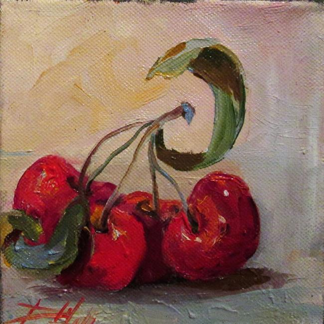 Art: Four Sour Cherries by Artist Delilah Smith