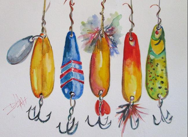 Art: Fishing Lures No. 3 by Artist Delilah Smith