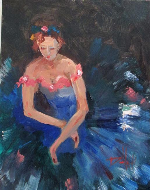 Art: Ballerina No 4 by Artist Delilah Smith